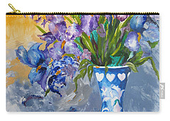 Sunshine And Flowers Carry-all Pouch