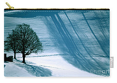 Carry-all Pouch featuring the photograph Sunshine And Shadows - Winterwonderland by Susanne Van Hulst