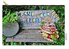 Carry-all Pouch featuring the painting Sunshine Bench by Joan Reese