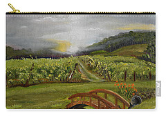 Sunshine Bridge At The Cartecay Vineyard - Ellijay Ga - Vintner's Choice Carry-all Pouch