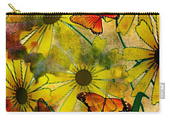 Sunshine Daisies Carry-all Pouch by Maria Urso