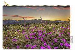 Super Bloom Sunset Carry-all Pouch by Peter Tellone