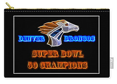Carry-all Pouch featuring the photograph Super Bowl 50 Champions by Shane Bechler