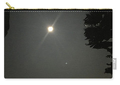 Carry-all Pouch featuring the photograph Super Moon 2 by Karen Nicholson
