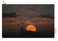 Super Moon And Silhouettes Carry-all Pouch