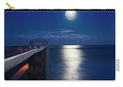 Carry-all Pouch featuring the photograph Super Moon At Juno by Laura Fasulo