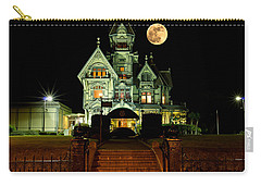Super Moon Over Carson Mansion Carry-all Pouch