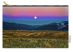 Super Moon Over Taos Carry-all Pouch