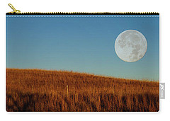 Super Moon Over The Prairie Carry-all Pouch by Shelly Gunderson