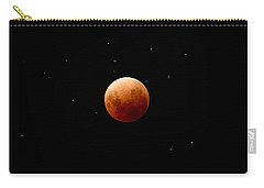 Super Red Blue Moon Eclipse Carry-all Pouch