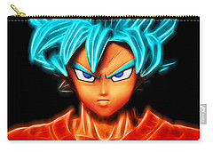 Carry-all Pouch featuring the digital art Super Saiyan God Goku by Ray Shiu