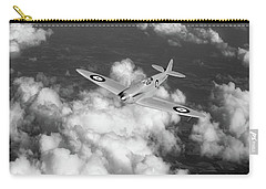 Carry-all Pouch featuring the photograph Supermarine Spitfire Prototype K5054 Black And White Version by Gary Eason