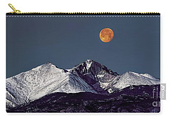 Supermoon Lunar Eclipse Over Longs Peak Carry-all Pouch