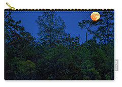 Supermoon Over Providence Canyon Carry-all Pouch by Barbara Bowen