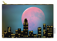 Supermoon Over The City Carry-all Pouch