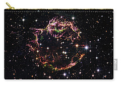 Carry-all Pouch featuring the photograph Supernova Remnant Cassiopeia A by Marco Oliveira