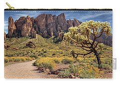 Superstition Mountain Cholla Carry-all Pouch by James Eddy
