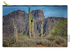 Superstition Mountain With Cactus Carry-all Pouch