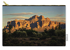 Superstitions At Sunset  Carry-all Pouch