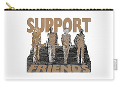 Carry-all Pouch featuring the digital art Support Friends by Lance Sheridan-Peel