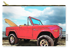 Surf Bronco Beyond The 4 Wheel Drive Only Sign Padre Island Carry-all Pouch