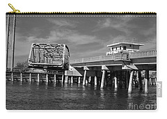 Surf City Bridge - Black And White Carry-all Pouch