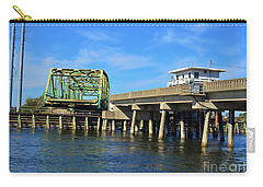 Carry-all Pouch featuring the photograph Surf City Bridge by Bob Sample