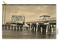 Surf City Bridge - Sepia Carry-all Pouch