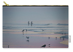 Carry-all Pouch featuring the photograph Surf Fishing In Wildwood by Bill Cannon