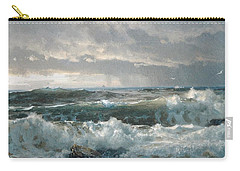 Surf On The Rocks Carry-all Pouch by  Newwwman