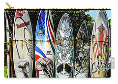 Surfboard Hana Maui Hawaii Carry-all Pouch by Peter Dang