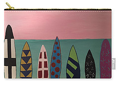 Surfboards At On Beach Carry-all Pouch