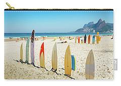 Surfboards On Ipanema Beach, Rio De Janeiro Carry-all Pouch