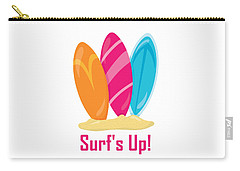 Surfer Art - Surf's Up Surfboards Carry-all Pouch