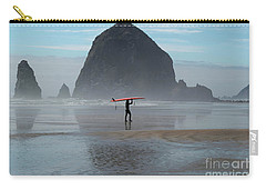Surfer At Haystack Rock Carry-all Pouch