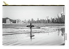 Surfer On The Beach Carry-all Pouch