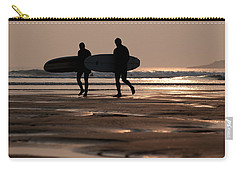 Surfers At Sunset Carry-all Pouch