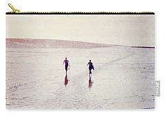 Carry-all Pouch featuring the photograph Surfers In The Snow by Lyn Randle