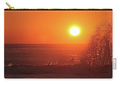 Surfing And Splashing Carry-all Pouch by Robert Banach