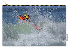 Carry-all Pouch featuring the photograph Surfing Dog by Thanh Thuy Nguyen