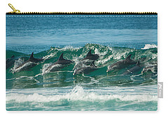 Surfing Dolphins 4 Carry-all Pouch