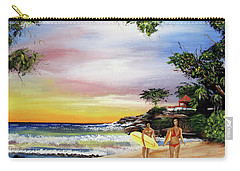 Surfing In Rincon Carry-all Pouch
