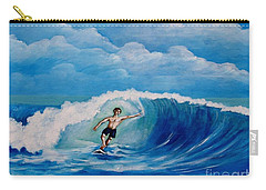 Surfing On The Waves Carry-all Pouch