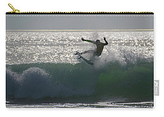 Carry-all Pouch featuring the photograph Surfing The Light by Thierry Bouriat