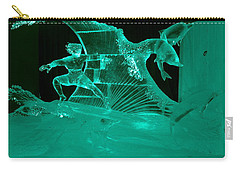 Surfing With Dolphins Carry-all Pouch by Betty-Anne McDonald