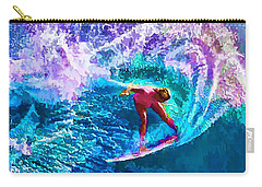 Surfs Like A Girl 1 Carry-all Pouch by ABeautifulSky Photography