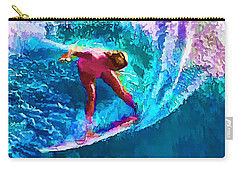 Surfs Like A Girl 2 Carry-all Pouch by ABeautifulSky Photography