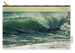 Carry-all Pouch featuring the photograph Surf's Up by Laura Fasulo