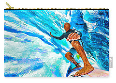 Surf's Up With Kelly Slater Carry-all Pouch by ABeautifulSky Photography