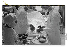Carry-all Pouch featuring the photograph Surgical Theater - Chicago 1941 by Daniel Hagerman